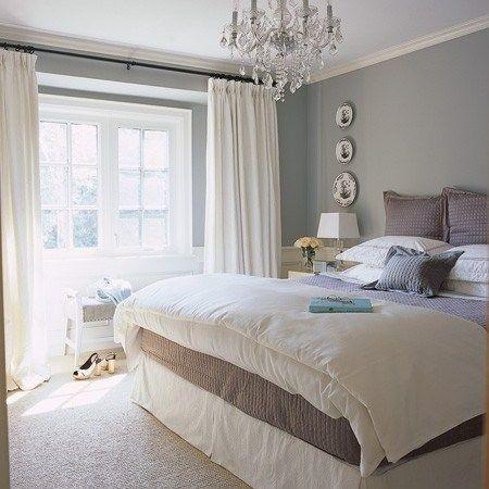 Grey interior : light grey bedroom