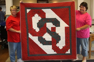 Marion, OH - Kindred Nursing and Rehabilitation - Community is sponsoring the National Alzheimer's Memory Walk by raffling an Ohio State quilt, donating the proceeds, and participating in the walk.
