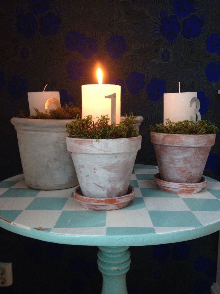 Advent candels. DIY.