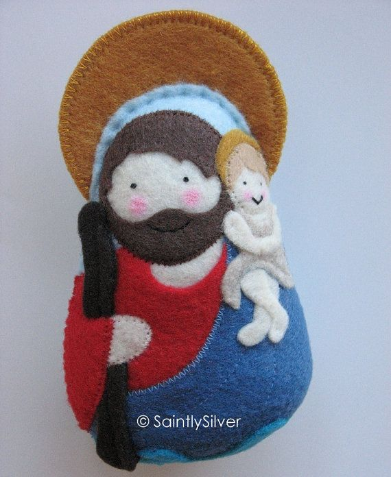 Saint+Christopher+Felt+Saint+Softie+by+SaintlySilver+on+Etsy,