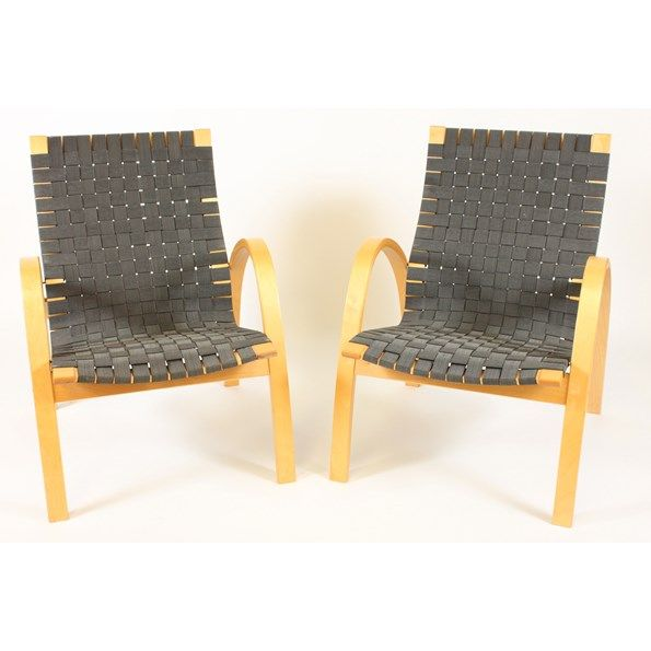 Scandinavian Basket Weave Chairs, Pair Vintique.com