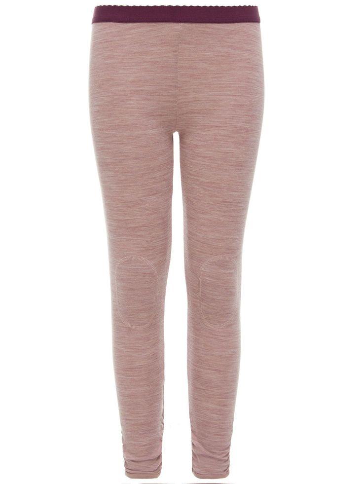 Name it, Nitwupsusjaq kids pink wool cotton legging girl from Knerten