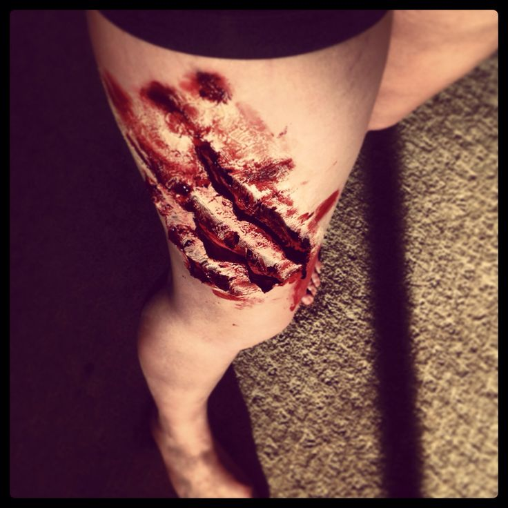 My special effect makeup. Scratch marks.