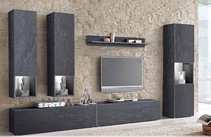 25 best ideas about ensemble meuble tv on pinterest for Meuble effet beton cire