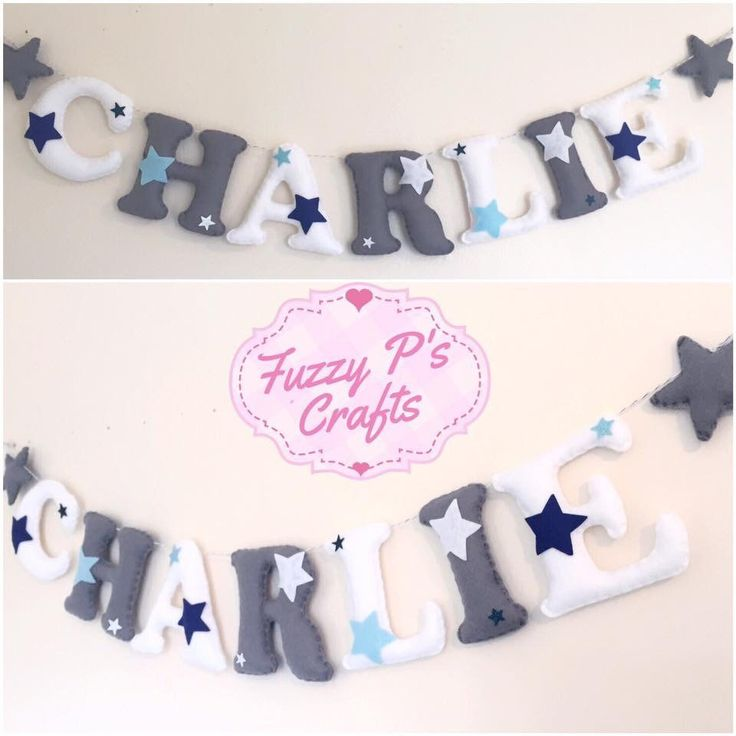 Show your little man what a STAR he is with this fabulous handmade letter garland