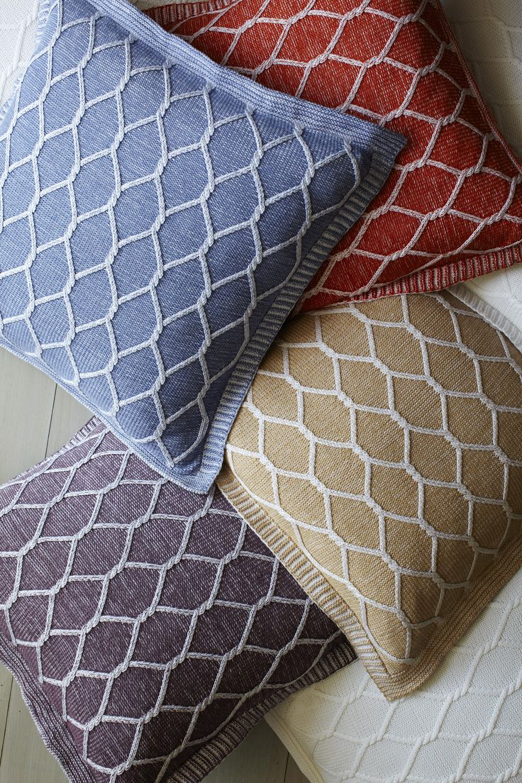 Bright and plush, our Orazio cotton knit decorative pillows are an ideal addition to any sitting room.