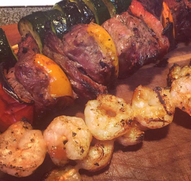 21 Day Fix Steak & Shrimp Kabobs