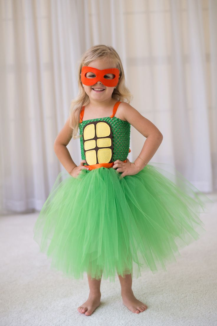 Ninja Turtle Inspired Tutu of your choice - with matching mask. Perfect for birthday parties, dance recitals and Halloween costumes! These costumes are great for everyday playtime - my babes LOVE LOVE