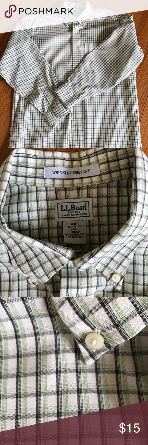 Men's casual button down shirt LL Bean Casual button down collar plaid shirt. Neck 16.5 sleeve 32-33 like new excellent condition LLBean Shirts Casual Button Down Shirts