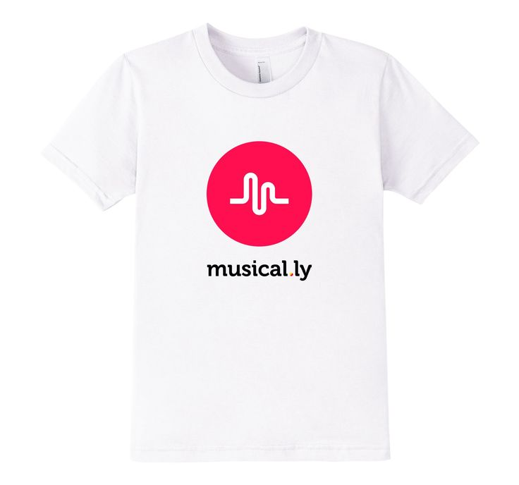 Amazon Com Musical Ly T Shirt White Fitted Cut