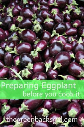 Preparing Eggplant Before You Cook It  The Secret to Yummy Eggplant that isn't Bitter! #healthyeatingparty