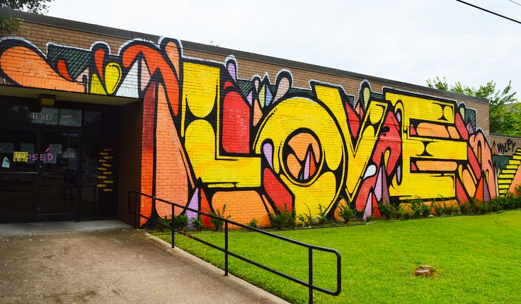 Wiley's Love Mural at the Old Heights Post Office Mural