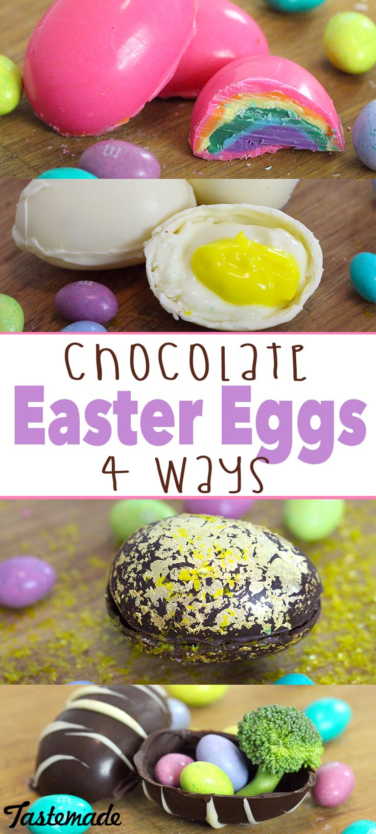 From rainbow to candy-filled, chocolate Easter eggs have never been more fun and delicious!