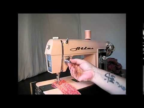 Demo Video: Pink Vintage Atlas Sewing Machine from StagecoachRoad Sewing #vintage #sewing   http://sew-whats-new.com/video/demo-video-pink-vintage-atlas-sewing-machine