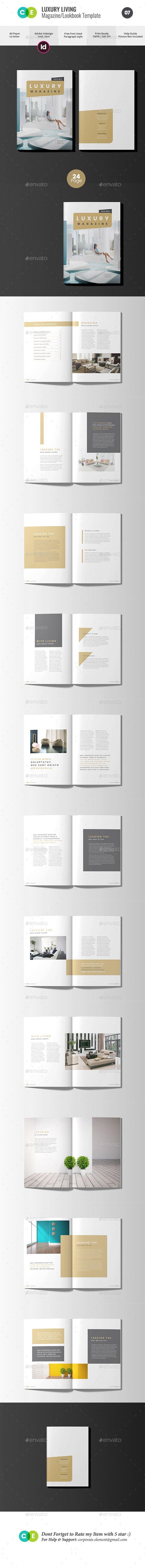 The #Magazine | Luxury Living Magazine V07 - Magazines Print Templates