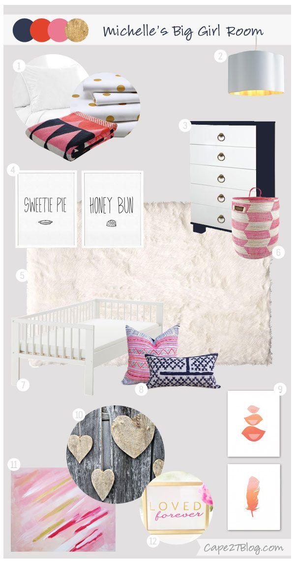 Cape 27 Custom Mood Boards: Michelle's Big Girl Room