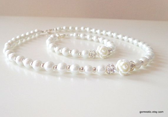 Hey, I found this really awesome Etsy listing at http://www.etsy.com/listing/129919320/childrens-pearl-necklace-and-bracelet