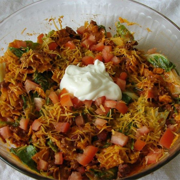 """Taco Salad I   """"I like this recipe alot because it is different, although I fix it differently than above, and this taco salad is a huge hit at all my family gatherings. My family expects it."""""""