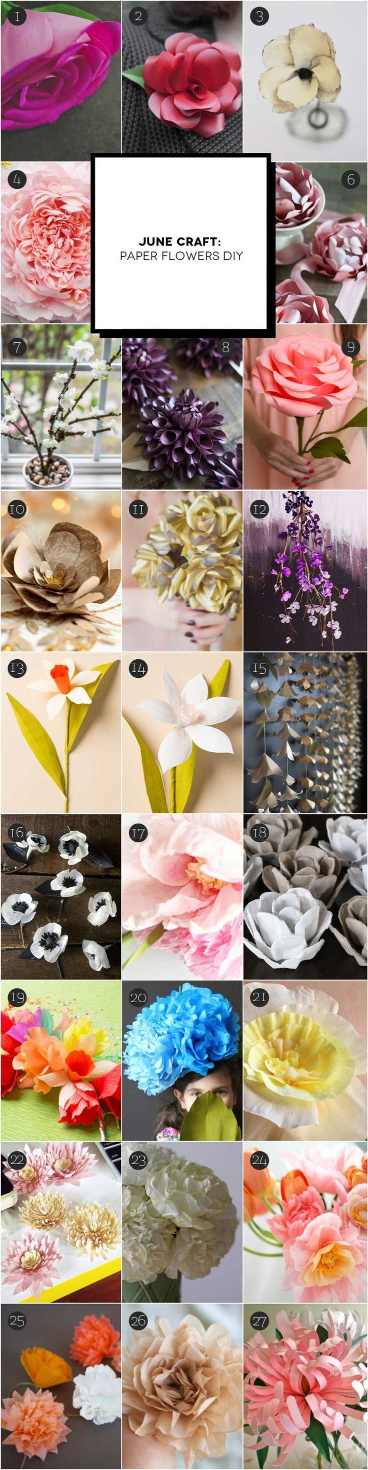 June Craft: realizzare fiori di carta | Inspire We Trust #diy #paperflowers #craft