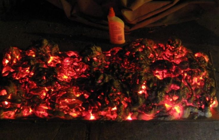 halloween - create a cheap, easy burning coals special effect for your haunted house (or even a christmas fireplace)