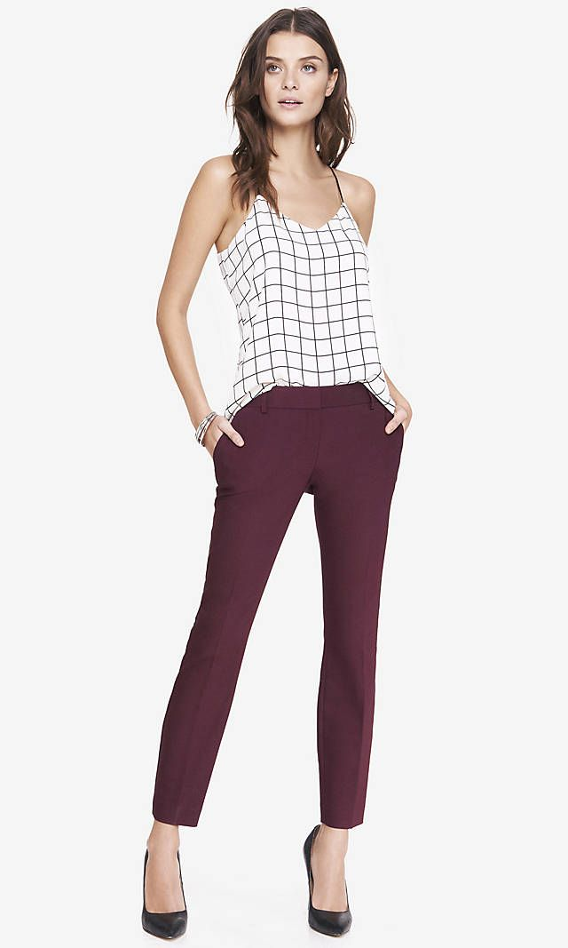 Ultimate Double Weave Columnist Ankle Pant | Express.  Best work pants <3