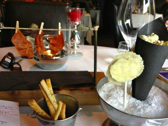 Europa, Montreal, Quebec- (French cuisine) jerky, cheese lolli-pops, truffle popcorn (80452785)