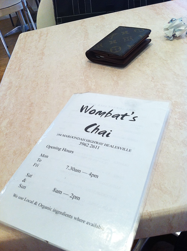 Wombats Chai, 194 Maroondah Hwy, Healesville VIC 3777, (03) 5962 2611.