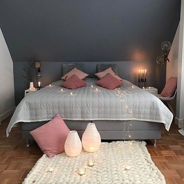 The beautiful cosy bedroom of @homebyhouby 👈🏻 Good night all ✨ . #bedroom #bedroomdecor #nordichome #nordicinspiration