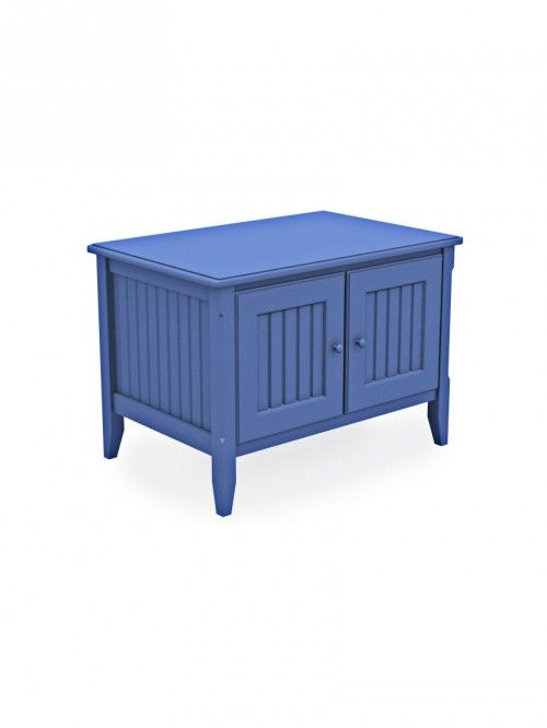 Cottage Low TV Stand, 29.75″W, Standard Leg, Beadboard, China Blue