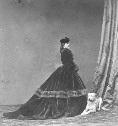 Elisabeth of Bavaria, Empress of Austria, Queen of Hungary and Bohemia (1837-1898).    Photo circa 1865-1866