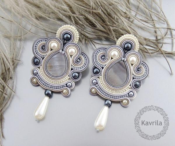 K.Avril- Grey Oriental Earrings