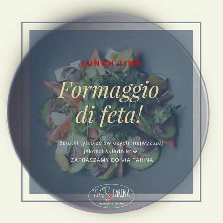 ★★★★★ LUNCH TIME ★★★★★  Szef kuchni POLECA ☛ Formaggio di feta, czyli pyszną i sycącą sałatkę z serem feta najwyższej jakości ☚  A tutaj znajdziecie nasze pełne MENU ☛ http://www.viafarina.pl/o-nas/ ☚  ★ Zapraszamy ★  #restauracja #restauracjawłoska #niepołomice #niepolomice #i #okolice #kraków #krakow #wieliczka #pizza #salad #italia #menu #obiad #lunch #goodfood #slowfood #italianfood #food #kręgle #zaproszenie #sałatka #lunchtime