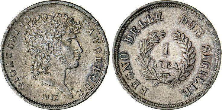 NumisBids: Numismatica Varesi s.a.s. Auction 65, Lot 502 : NAPOLI - GIOACCHINO MURAT (1808-1815) Lira 1813. P.R. 17 MIR...