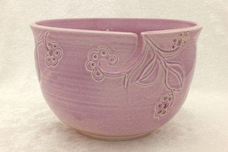 Pink Berries Yarn Bowl on Etsy, $50.00