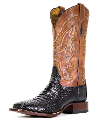 Men's Black Hornback Caiman Boot