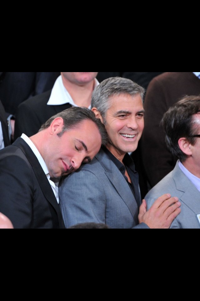 43 best when awesome people hang out images on pinterest for Dujardin clooney