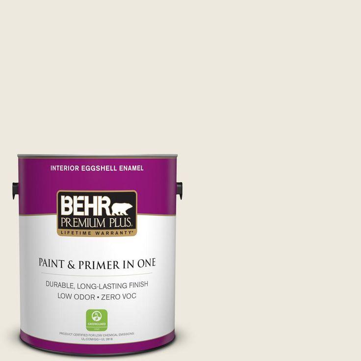 BEHR Premium Plus 1-gal. #720C-1 White Truffle Zero VOC Eggshell Enamel Interior Paint