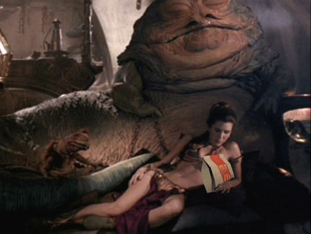 "Ask Leia about this McDonald's product placement. I don't think she's ""lovin' it""."
