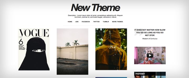 Tumblr Themes - Six caps