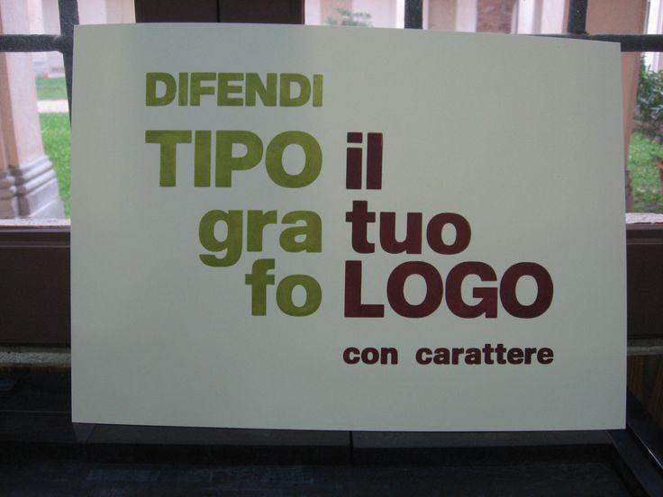 Tipografi sempre, nonostante tutto.