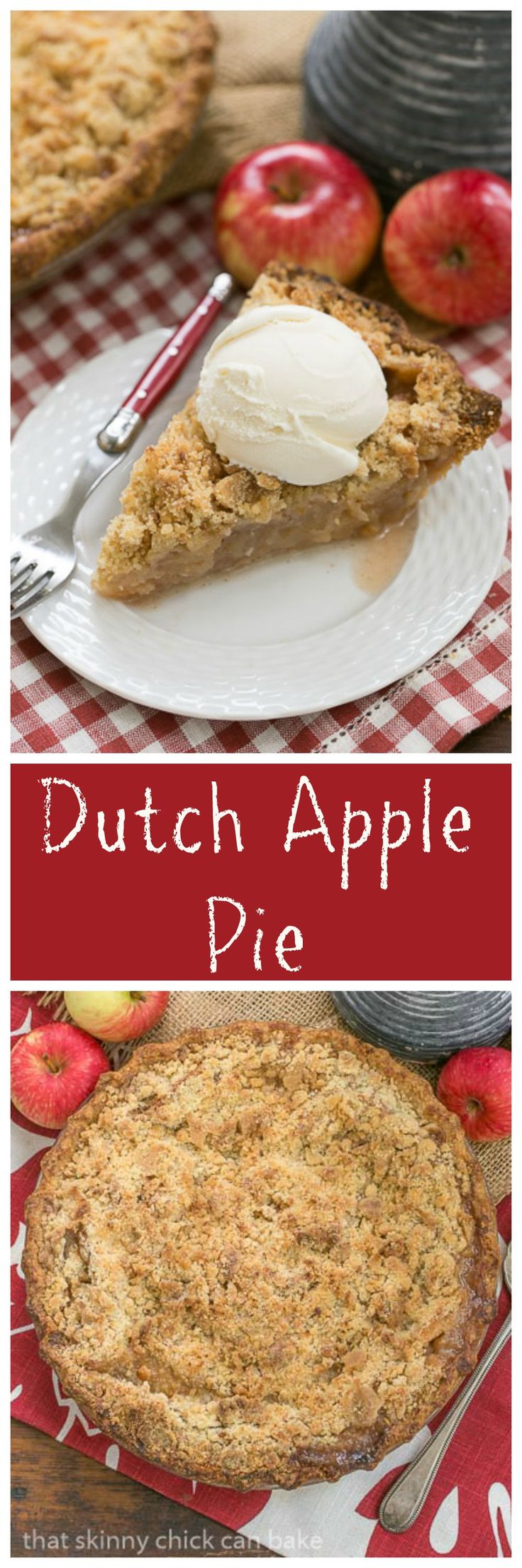 Dutch Apple Pie   Cinnamon spiced apples in a pastry shell with a streusel topping