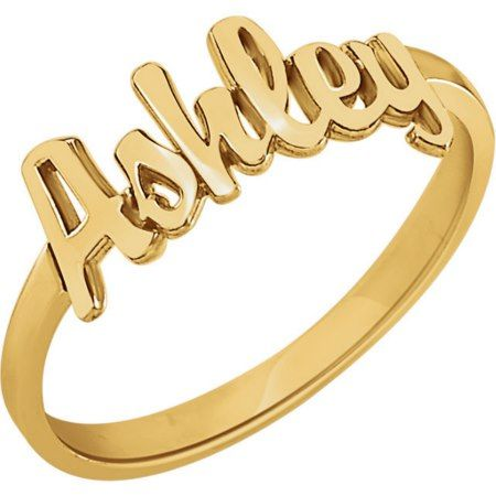 Custom 14K Gold Vermeil Script Name Ring  - click/tap to personalize and buy