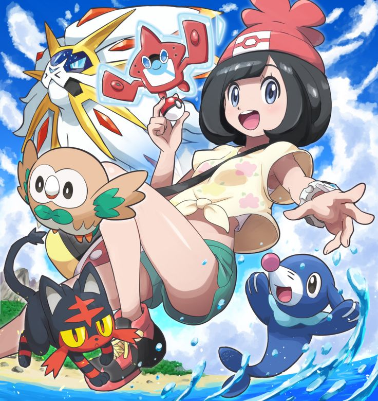 Pokémon Sun and Moon: Female Trainer, Sun and Moon starters, Rotom Pokédex, and Solgaleo