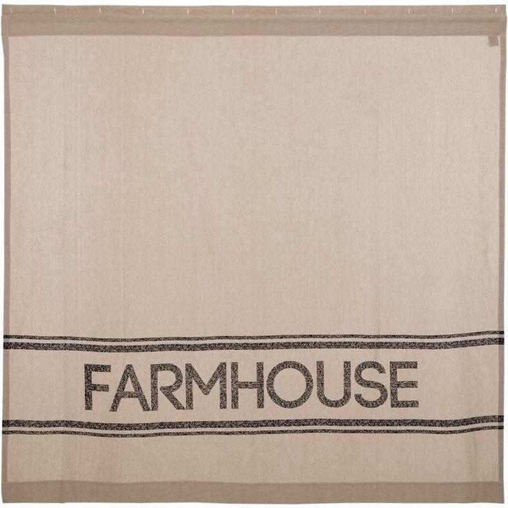 Miller Farm Charcoal Charcoal Farmhouse Shower Curtain
