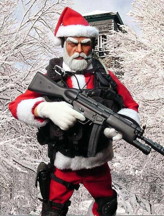Happy Holidays Santa Knows Living Guns Knives And