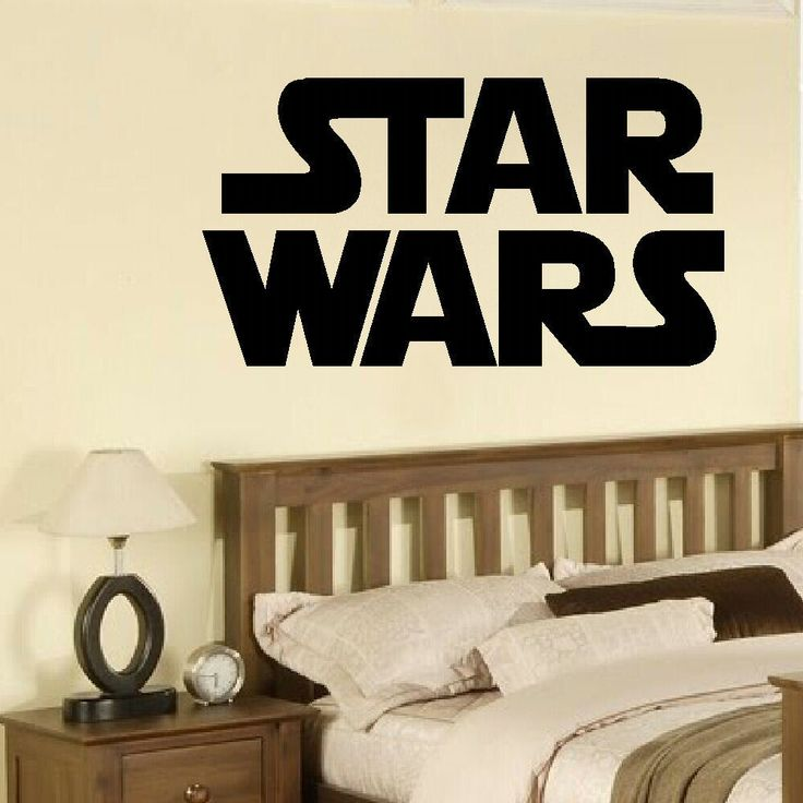 LARGE STAR WARS STARWARS LOGO CHILDRENS BEDROOM WALL MURAL STICKER ART SELF ADHESIVE PVC VINYL TRANSFER