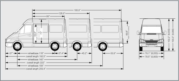 Mercedes Sprinter Van Dimensions Bing Images Travel Vechicals Pinterest Sprinter Van