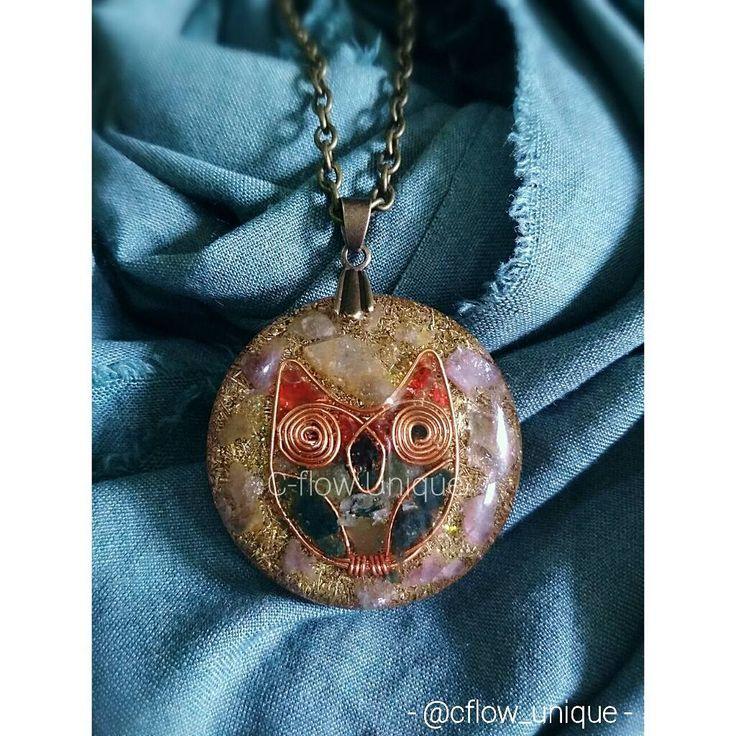 """10 Suka, 1 Komentar - CRystal FLower (@cflow_unique) di Instagram: """"Orgonite Pendant . Made from bronze, metal shavings, quartz n gemstone ❤ . . #orgonite #pendant…"""""""