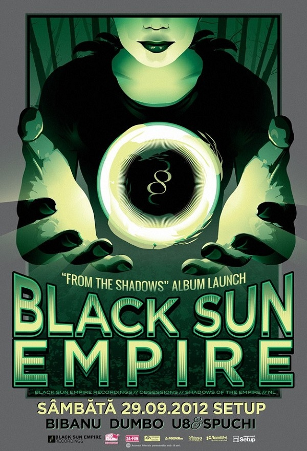 Black Sun Empire From The Shadows album launch poster - Timisoara, Romania