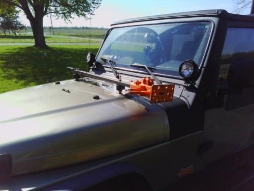 Hi Lift Jack Hood Mount Kit Jeep Wrangler Cj Yj Tj Lj